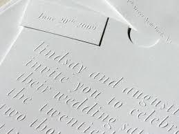 embossed wedding invitations simple blind emboss wedding invitations
