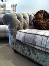 grey velvet chesterfield sofa loungin loungin