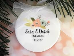 engagement ornament ceramic ornament customized engagement