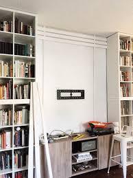 apartment diy no nails slat wall u2014 fairly modern