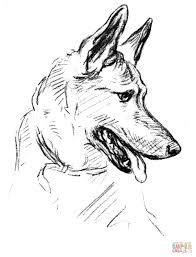 german shepherd coloring page german shepherd dog coloring page