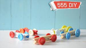 diy ทำของเล น รถแข งจ ว แต แจ ว diy clothespin race car toy