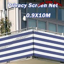 factory direct sales striped blue white privacy screen net awning