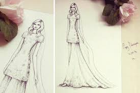 blog wedding dress art wedding stationery from appleberry press