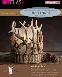 flash new antler shade from pink zebra
