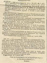 Décrets De 1950 Retour Vers Le Passé Les Comptoirs En Inde 1945 1950