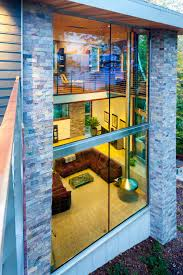 Architect House Villa Creative Glass Wall Design With Modern Architect House