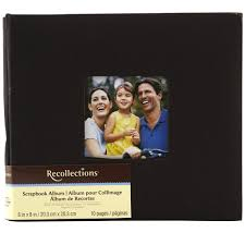 recollections photo album refills 8 x 8 cloth scrapbook album by recollections