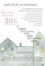 Christmas Open House Ideas by Holiday Open House U2013 Sun River Gardens