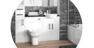 Hudson Reed Bathroom Furniture Hudson Reed Gloss White Depth Fitted Bathroom Furniture Vp