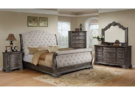 Grey Sleigh Bed Ivan Smith Sheffield Antique Grey Upholstered King Sleigh Bed
