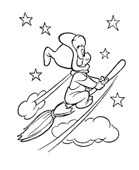 fly witch halloween coloring coloring pages coloring