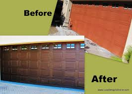 metal garage door makeover before and after lucy designs