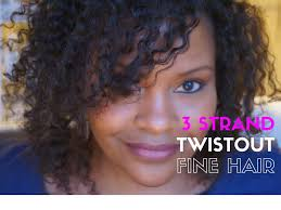 how to fine natural hair style 3 strand twist out water only