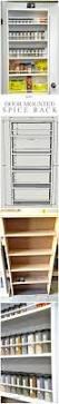 Kitchen Cabinet Door Spice Rack Best 25 Door Mounted Spice Rack Ideas On Pinterest Spice Rack