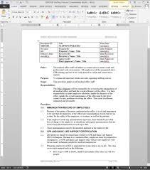 staffing policies procedure