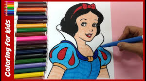 coloring book pages color snow white coloring book pages