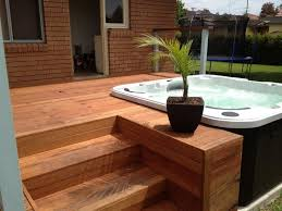Best  Hot Tubs Landscaping Ideas On Pinterest Hot Tubs - Backyard spa designs