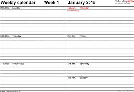 weekly calendar 2015 uk free printable templates for word saneme