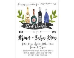 stock the bar shower stock the bar invitation any colors