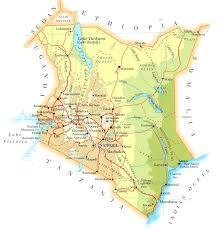 Transport Map Kenya Transport Map Transportation Map Of Kenya Kenya Highway