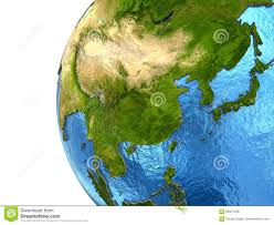 Asia Continent Map Asian Continent On Earth Stock Illustration Image 69921338