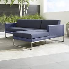 Sectional Cushions Dune Sunbrella Sectional Sofa Crate And Barrel