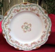 vintage china with pink roses antique haviland limoges plate schleiger 271 pink roses blue
