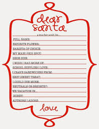christmas wish list the nook dear santa s christmas wish list