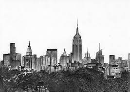 new york city skyline drawing gallery clip art library