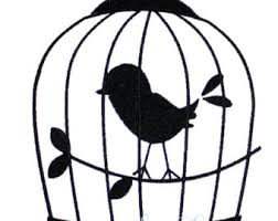 silhouette design bird cage silhouette etsy