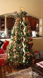 christmas how to decorate christmas tree with ribbon on