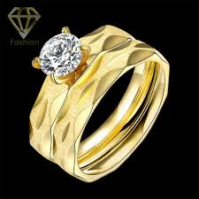 2pcs lot new arrival simple style ring cz men ring fashion commitment rings new arrival gold color rhombus ring 316l
