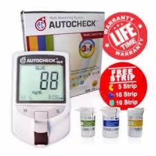 Alat Tes autocheck gcu 3in1 alat tes kolesterol cek gula darah dan asam urat