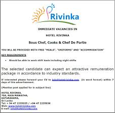 sous chef de cuisine definition sous chef cooks chef de partie vacancy in sri lanka