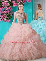 15 quinceanera dresses scoop sweet 15 quinceanera dress with beading and ruffles