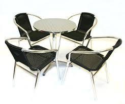 Aluminium Bistro Chairs Black Rattan Aluminium Bistro Set Garden Set 4 X Ratta Https