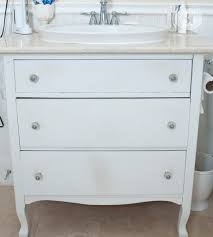 Salvaged Sink Furniture Stripping Refreshed Bathroom Vanity Makeover