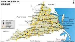 virginia map buy virginia golf courses map