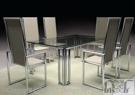 steel dining table set stainless steel dining table chairs tubular dining table set from