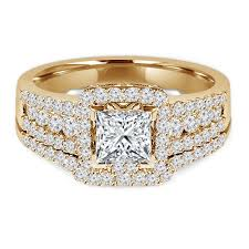 halo engagement ring settings multi princess cut halo engagement ring setting and