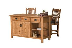 solid wood kitchen islands amish arts and crafts kitchen island with open shelf