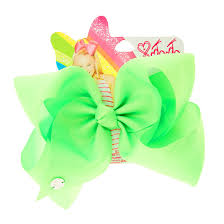 jojo siwa large bright green neon hair bow s