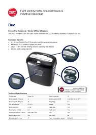 gbc duo personal paper shredder paper shredder office automation