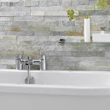 Feature Tiles Bathroom Ideas Ice White Split Face Mosaic Tiles Stonetilecompany Co Uk New