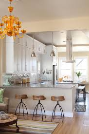 Orange Glass Chandelier Lucite Counter Stools Kitchen Contemporary With Counter Stools
