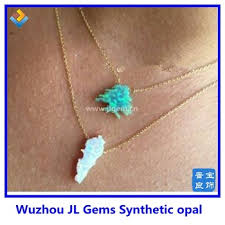 opal jewelry necklace images Custom make synthetic opal jewelry special opal shape silver jpg