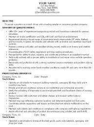 Best Resume Sample For Applying Truck Driver Position With
