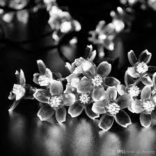 solar powered fairy lights for trees solar fairy string lights 50 led white blossom decorative gardens