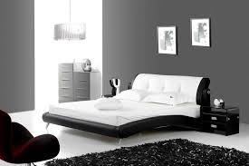 chambre avec lit noir lit noir et blanc on decoration d interieur moderne chambre noir et blanc design design de maison idees 1024x683 jpg
